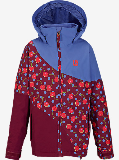 Burton Girls' Hart Jacket shown in Periwinks / Sangria Tutti Frutti Block [bluesign® Approved]