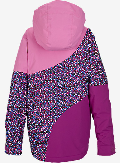 Burton Girls' Hart Jacket shown in Pixi-Dot Sangria Block [bluesign® Approved]