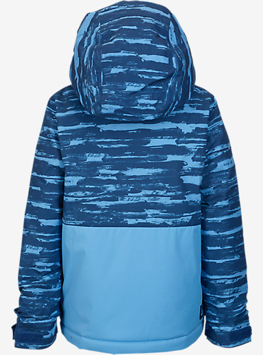 Burton Boys' Minishred Fray Jacket shown in Boro Sloppy Stripe / Blue Steel [bluesign® Approved]