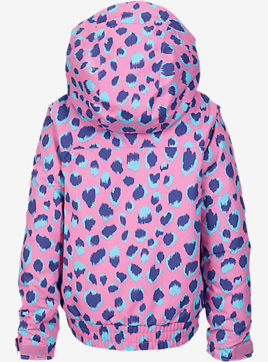Burton Girls' Minishred Twist Bomber Jacket shown in Pop Cheetah
