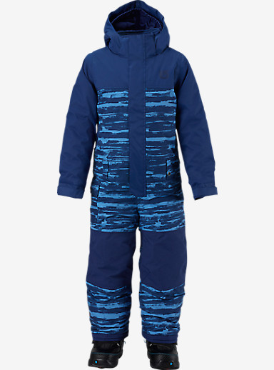 Burton Boys' Minishred Striker One Piece shown in Boro Sloppy Stripe / Boro [bluesign® Approved]