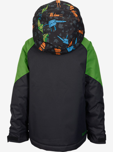 Burton Boys' Minishred Amped Jacket shown in Slime / Cybor Rex Block