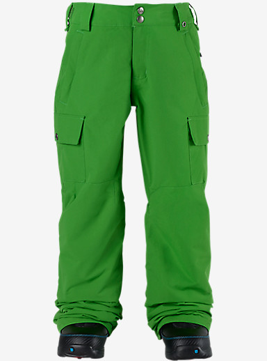 Burton Boys' Exile Cargo Pant shown in Slime [bluesign® Approved]
