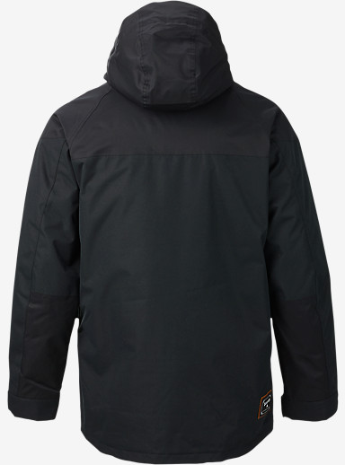 Burton Frontier Jacket shown in True Black / True Black Waxed