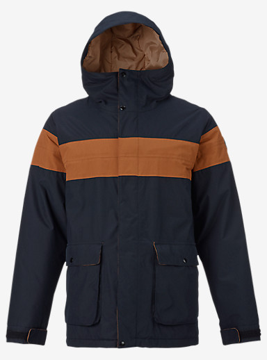 Burton Frontier Jacket shown in True Black / True Penny