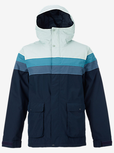 Burton Frontier Jacket shown in Eclipse / Washed Blue / Larkspur / Foam