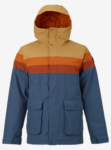 Burton Frontier Jacket shown in Syrup / Maui Sunset / Picante / Washed Blue