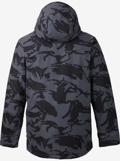 Burton Breach Jacket shown in True Black DPM Camo