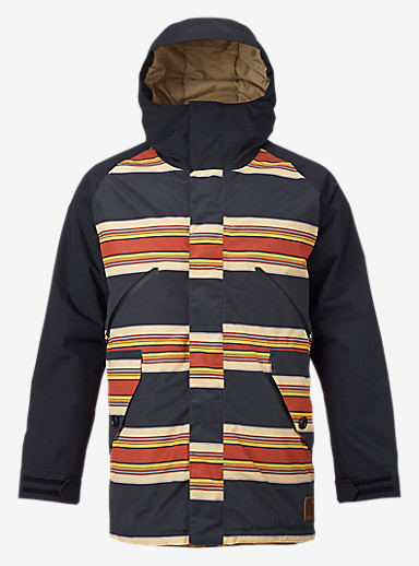 Burton Breach Jacket shown in Vintage Stripe / True Black / Kelp