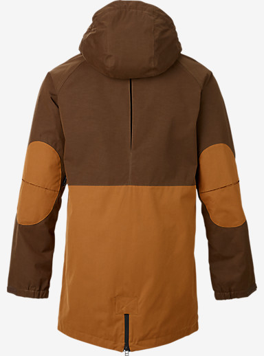 Analog Solitary Snowboard Jacket shown in Shale / Leather
