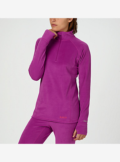 Burton Women's Expedition 1/4 Zip shown in Grapeseed