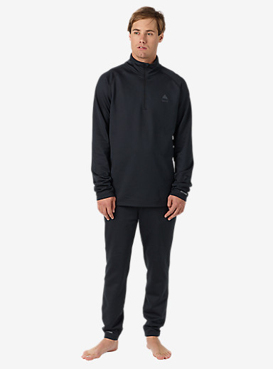 Burton Expedition 1/4 Zip Base Layer shown in True Black