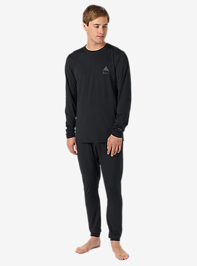 Burton Lightweight Base Layer Crew shown in True Black