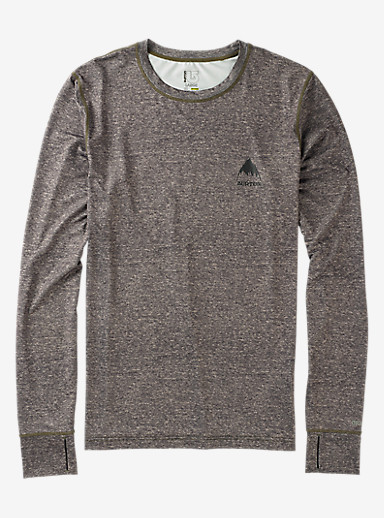 Burton Lightweight Base Layer Crew shown in Monument Heather
