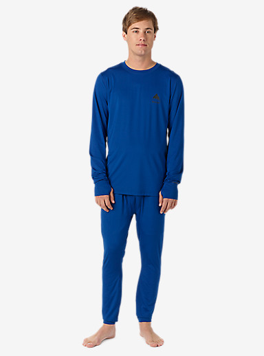 Burton Lightweight Base Layer Crew shown in True Blue