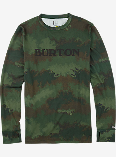 Burton Midweight Crew shown in Oil Camo
