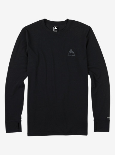 Burton Midweight Base Layer Crew shown in True Black