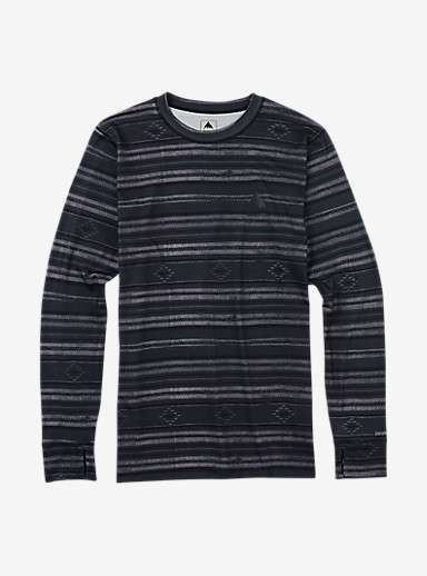 Burton Midweight Base Layer Crew shown in Faded Stag Stripe