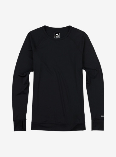 Burton Women's Base Layer Lightweight Crew shown in True Black