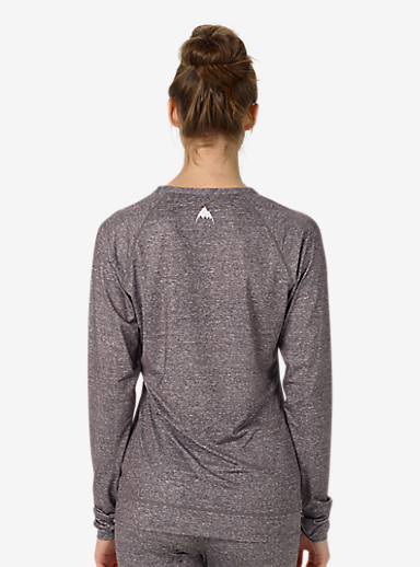 Burton Women's Base Layer Lightweight Crew shown in Monument Heather