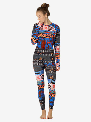 Burton Women's Base Layer Lightweight Crew shown in Uptown Funk