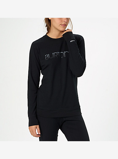 Burton Women's Midweight Crew shown in True Black