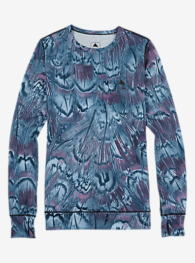 Burton Women's Base Layer Midweight Crew shown in Feathers