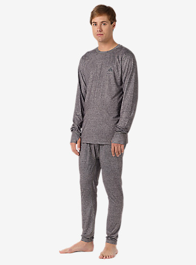 Burton Lightweight Base Layer Pant shown in Monument Heather