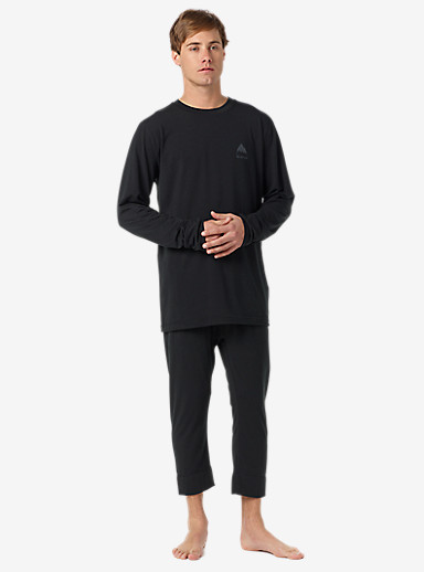 Burton Midweight Base Layer Shant shown in True Black