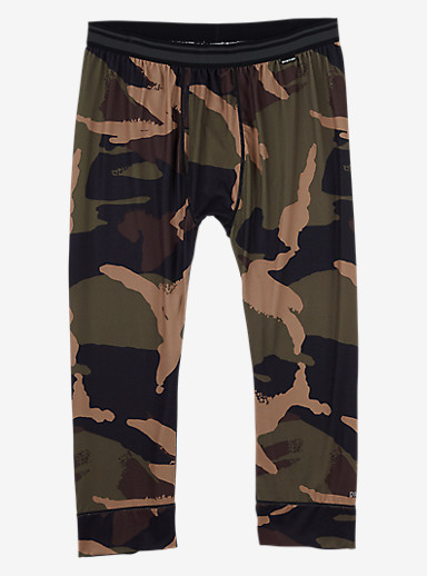 Burton Midweight Base Layer Shant shown in Kelp Derby Camo