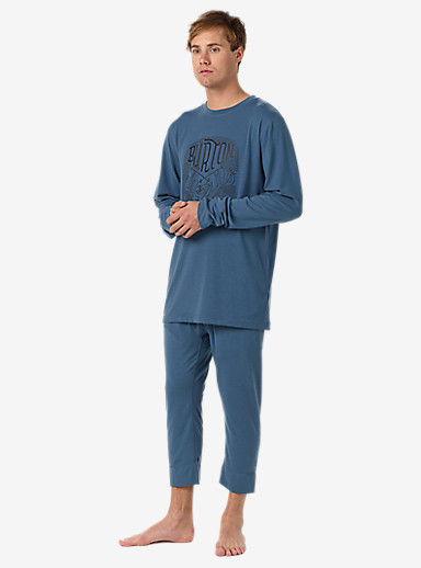 Burton Midweight Base Layer Shant shown in Washed Blue