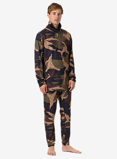 Burton Midweight Base Layer Pant shown in Kelp Derby Camo