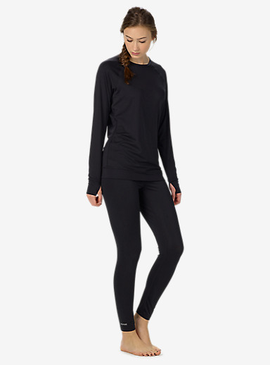 Burton Women's Lightweight Base Layer Pant shown in True Black