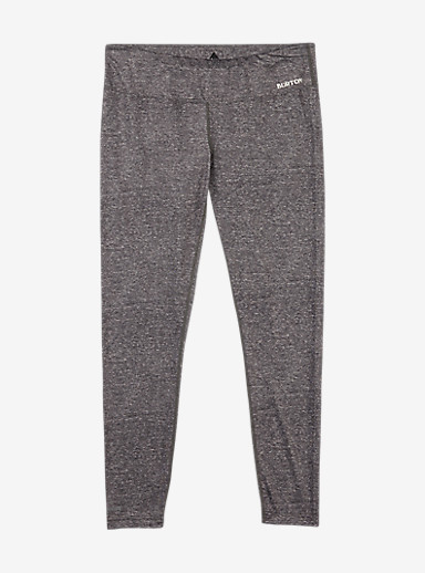 Burton Women's Lightweight Base Layer Pant shown in Monument Heather
