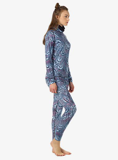 Burton Women's Midweight Base Layer Pant shown in Feathers