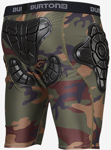 Burton Total Impact Short, Protected by G-Form™ shown in Highland Camo
