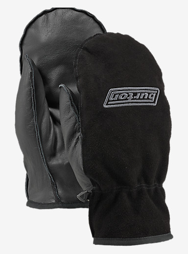 Burton Work Horse Leather Mitt shown in True Black