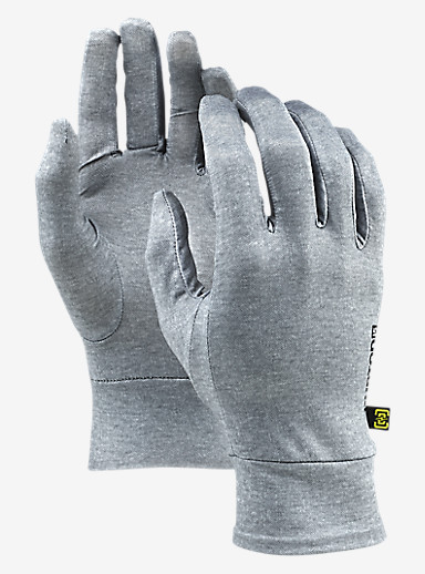 Burton Touchscreen Liner shown in Monument Heather