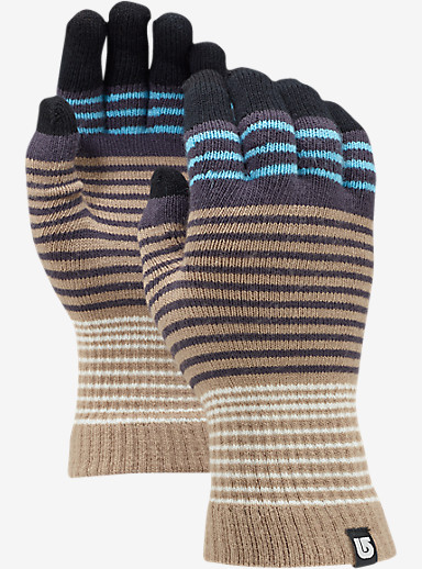 Burton Touch N Go Knit Glove shown in Sandstruck Stripe