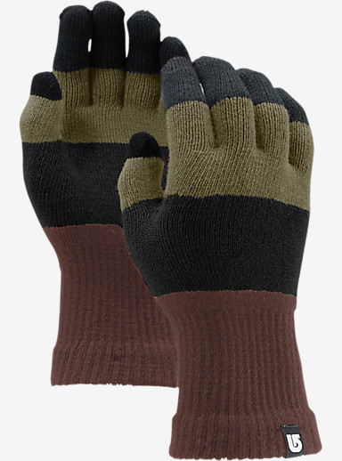 Burton Touch N Go Knit Glove shown in Tawny Block