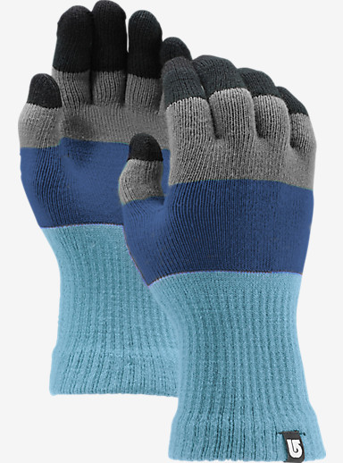 Burton Touch N Go Knit Glove shown in Blue Steel Block