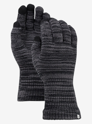 Burton Touch N Go Knit Glove shown in True Black / Faded Marl