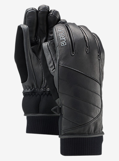Burton Favorite Leather Glove shown in True Black