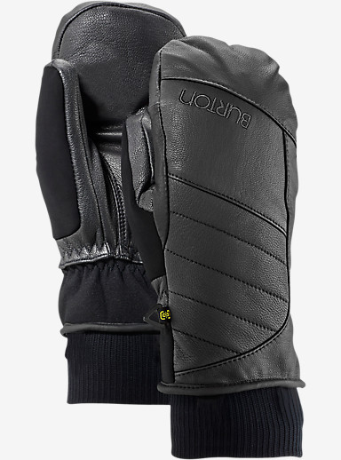 Burton Favorite Leather Mitt shown in True Black