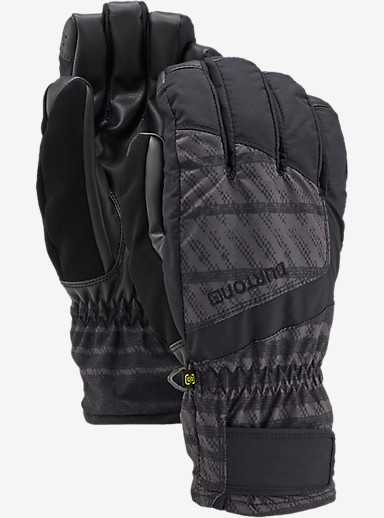 Burton Profile Under Glove shown in Dawson Stripe / True Black