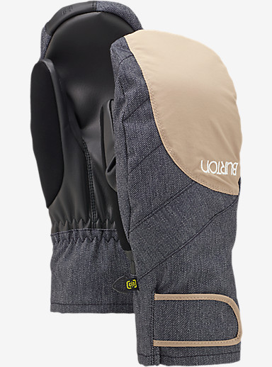 Burton Women's Approach Under Mitt shown in Sandstruck / Denim