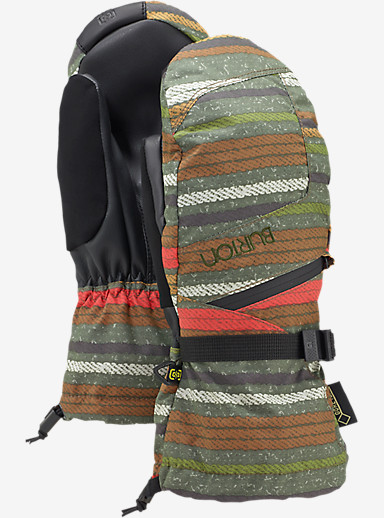 Burton Women's GORE-TEX® Mitt + Gore warm technology shown in Blanket Stripe