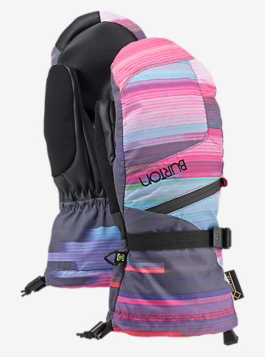 Burton Women's GORE-TEX® Mitt + Gore warm technology shown in Coral Flynn Glitch