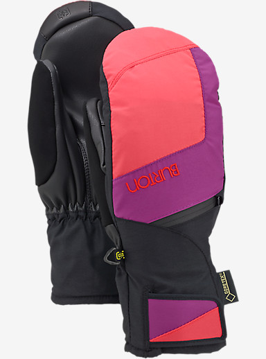 Burton Women's GORE-TEX® Under Mitt + Gore warm technology shown in Tropic / Grapeseed / True Black