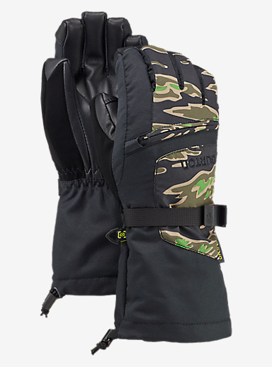 Burton Kids' Vent Glove shown in Tiger Camo / True Black